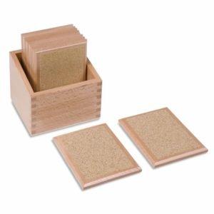 Rough Gradation Tablets-produs original Nienhuis Montessori-prin Didactopia by Evertoys