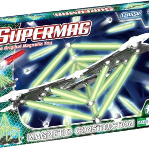 SUPERMAG CLASSIC GLOW - SET CONSTRUCTIE 72 PIESE - Supermag - prin Didactopia by Evertoys