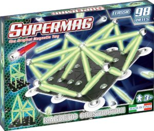 SUPERMAG CLASSIC GLOW - SET CONSTRUCTIE 98 PIESE - Supermag - prin Didactopia by Evertoys
