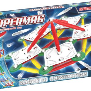 SUPERMAG CLASSIC PRIMARY - SET CONSTRUCTIE 120 PIESE - Supermag - prin Didactopia by Evertoys