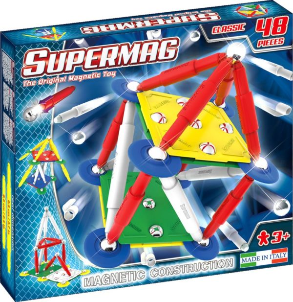 SUPERMAG CLASSIC PRIMARY - SET CONSTRUCTIE 48 PIESE - Supermag - prin Didactopia by Evertoys