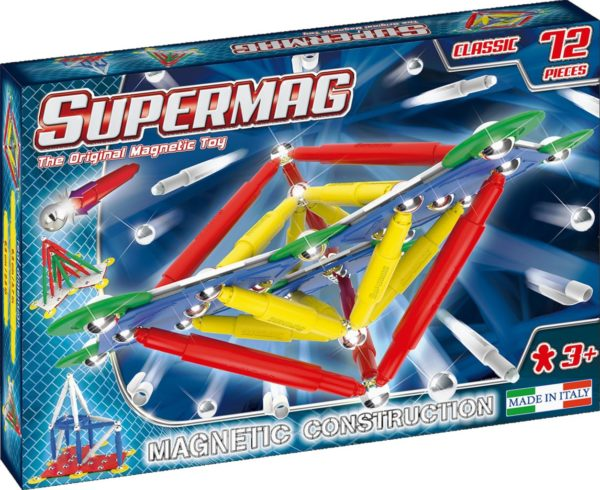 SUPERMAG CLASSIC PRIMARY - SET CONSTRUCTIE 72 PIESE - Supermag - prin Didactopia by Evertoys