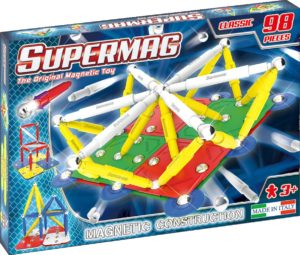 SUPERMAG CLASSIC PRIMARY - SET CONSTRUCTIE 98 PIESE - Supermag - prin Didactopia by Evertoys