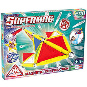 SUPERMAG TAGS PRIMARY - SET CONSTRUCTIE 200 PIESE - Supermag - prin Didactopia by Evertoys