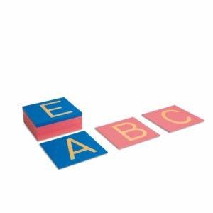 Sandpaper Capitals: International Print-produs original Nienhuis Montessori-prin Didactopia by Evertoys
