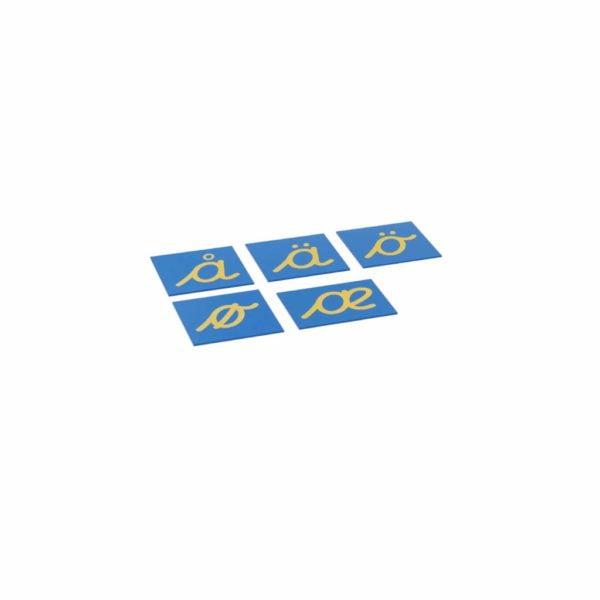 Sandpaper Letters: Nordic Cursive - Supplement Set-produs original Nienhuis Montessori-prin Didactopia by Evertoys