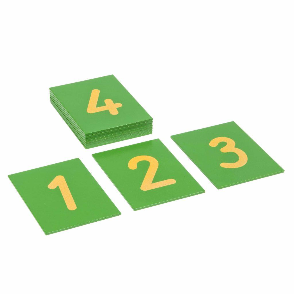 Sandpaper Numerals: International Version-produs original Nienhuis Montessori-prin Didactopia by Evertoys