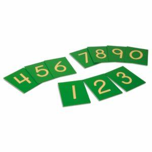 Sandpaper Numerals: US Version-produs original Nienhuis Montessori-prin Didactopia by Evertoys
