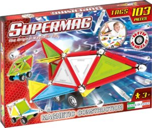 Set Constructie Tags Wheels 103 Pcs - Supermag - prin Didactopia by Evertoys