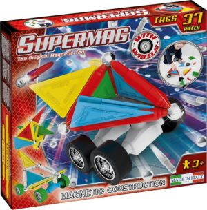 Set Constructie Tags Wheels 37 Pcs - Supermag - prin Didactopia by Evertoys