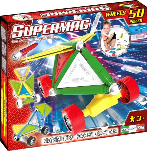 Set Constructie Tags Wheels 50 Pcs - Supermag - prin Didactopia by Evertoys