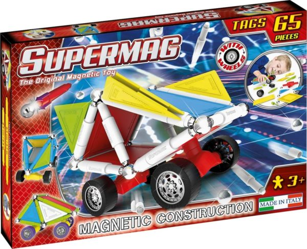 Set Constructie Tags Wheels 65 Pcs - Supermag - prin Didactopia by Evertoys