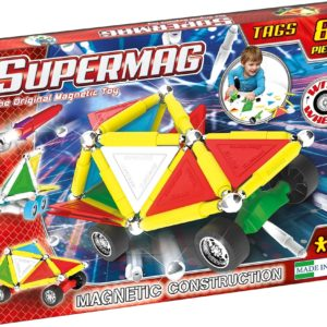 Set Constructie Tags Wheels 81 Pcs - Supermag - prin Didactopia by Evertoys