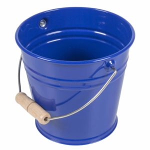 Small Metal Bucket (Blue)-produs original Nienhuis Montessori-prin Didactopia by Evertoys