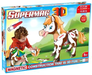 Supermag 3D - Jucarie Cu Magnet Ponei - Supermag - prin Didactopia by Evertoys