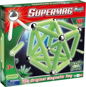 Supermag Maxi Glow - Set Constructie Luminos 44 Piese - Supermag - prin Didactopia by Evertoys