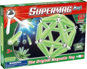 Supermag Maxi Glow - Set Constructie Luminos 66 Piese - Supermag - prin Didactopia by Evertoys