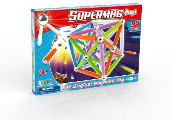 Supermag Maxi Neon - Set Constructie 92 Piese - Supermag - prin Didactopia by Evertoys
