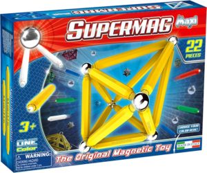 Supermag Maxi One Color - Set Constructie 22 Piese - Supermag - prin Didactopia by Evertoys