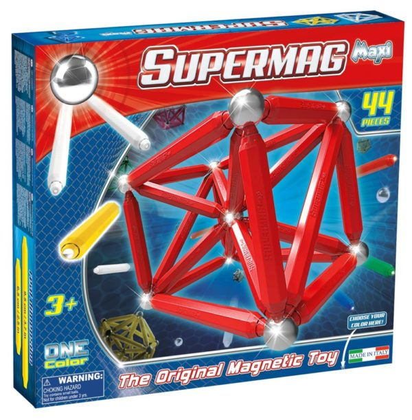 Supermag Maxi One Color - Set Constructie 44 Piese - Supermag - prin Didactopia by Evertoys