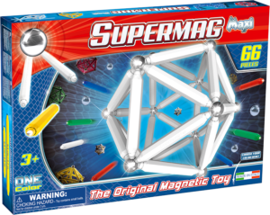 Supermag Maxi One Color - Set Constructie 66 Piese - Supermag - prin Didactopia by Evertoys
