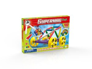 Supermag Maxi Wheels - Set Constructie 40 Piese - Supermag - prin Didactopia by Evertoys