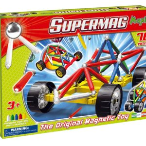 Supermag Maxi Wheels - Set Constructie 76 Piese - Supermag - prin Didactopia by Evertoys