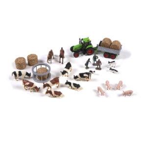 The Farm: Set Of Farm Animals-produs original Nienhuis Montessori-prin Didactopia by Evertoys