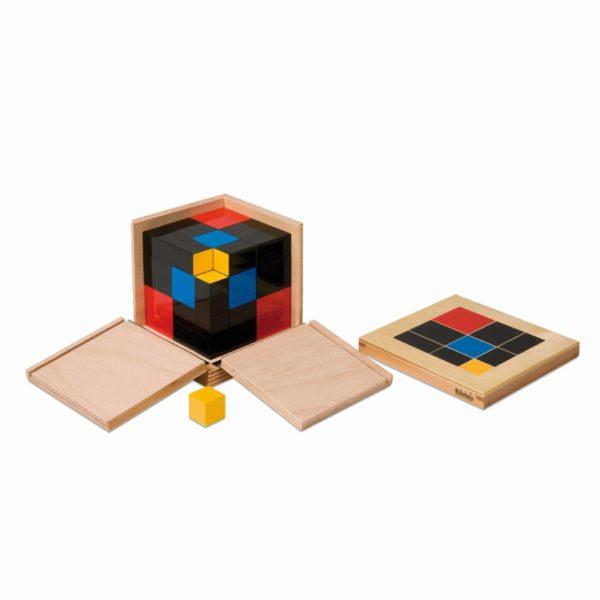 Trinomial Cube-produs original Nienhuis Montessori-prin Didactopia by Evertoys