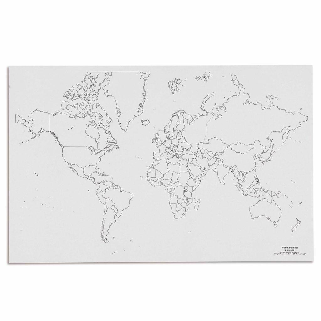 World: Political (50)-produs original Nienhuis Montessori-prin Didactopia by Evertoys