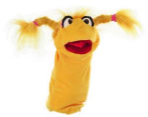 Domnisoara Vorba-iute - 38 cm - Papusa Marioneta de mana - original Living Puppets