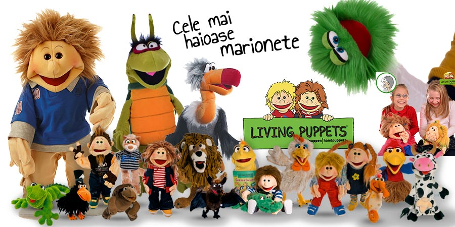 Marionetele Living Puppets - in Romania prin Didactopia by Evertoys
