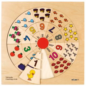 Counting circle-produs original Educo / Jegro -prin Didactopia by Evertoys