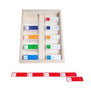 Decimal dominoes-produs original Educo / Jegro -prin Didactopia by Evertoys