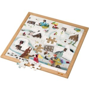 Extreme cold l Wooden puzzle l 64 puzzle pieces l Educo-produs original Educo / Jegro -prin Didactopia by Evertoys