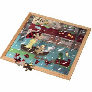 Extreme rain l Wooden puzzle l 64 puzzle pieces l Educo-produs original Educo / Jegro -prin Didactopia by Evertoys