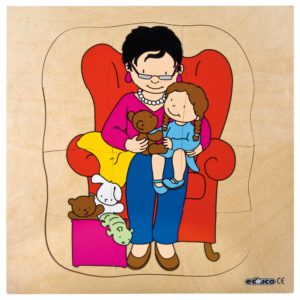 Growth puzzle - Grandmother-produs original Educo / Jegro -prin Didactopia by Evertoys