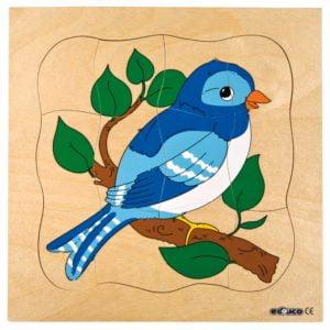Growth puzzle - bird-produs original Educo / Jegro -prin Didactopia by Evertoys