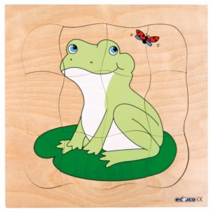 Growth puzzle - frog-produs original Educo / Jegro -prin Didactopia by Evertoys