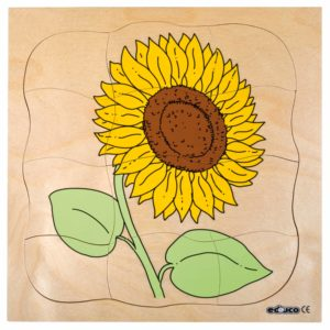 Growth puzzle - sunflower-produs original Educo / Jegro -prin Didactopia by Evertoys