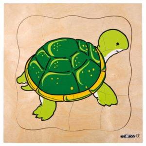 Growth puzzle - turtle-produs original Educo / Jegro -prin Didactopia by Evertoys