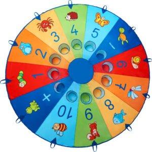 Parasuta Magia Mingilor - joc colaborare copii si adulti - sport outdoor - Haba Education 2