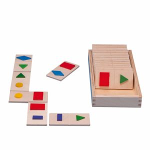 Shape dominoes-produs original Educo / Jegro -prin Didactopia by Evertoys
