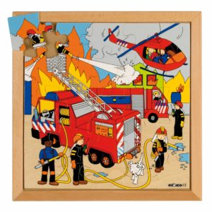 Street action puzzle - fire-produs original Educo / Jegro -prin Didactopia by Evertoys