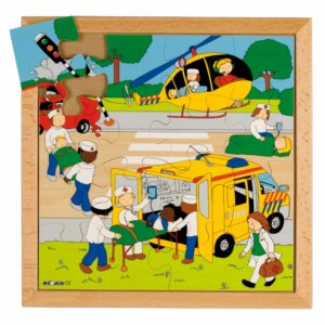 Street action puzzle - rescue-produs original Educo / Jegro -prin Didactopia by Evertoys