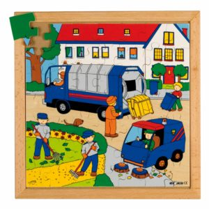 Street action puzzle - trash collection-produs original Educo / Jegro -prin Didactopia by Evertoys