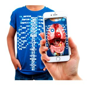 Tricou AR Realitate Augmentata - Virtuali-Tee - educatie interactiva - anatomie - biologie - Curiscope in Romania prin Didactopia by Evertoys