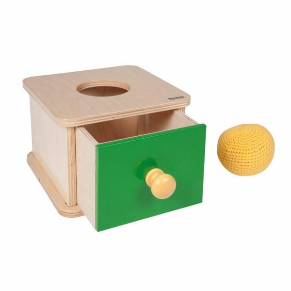 Cutie tip Imbucare cu bila crosetata - original Montessori - Nienhuis