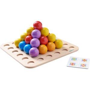 Piramida sferelor - Joc de indemanare si potrivire Froebel - Haba Education