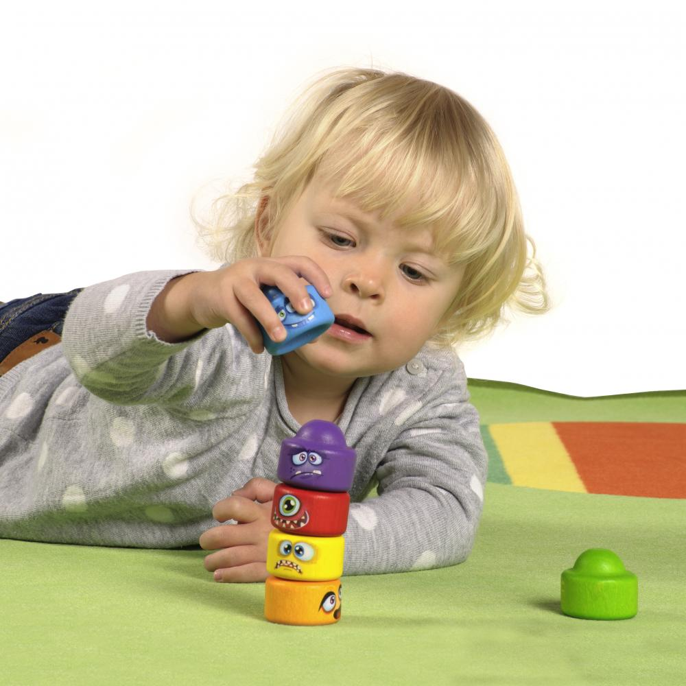 Turnuletul monstrilor - joc de stivuit - Joc echilibru si dexteritate bebe - Erzi Germania